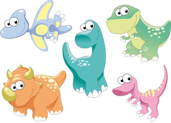 Photo sur Plexiglas Dinosaurs Dinosaurs Family