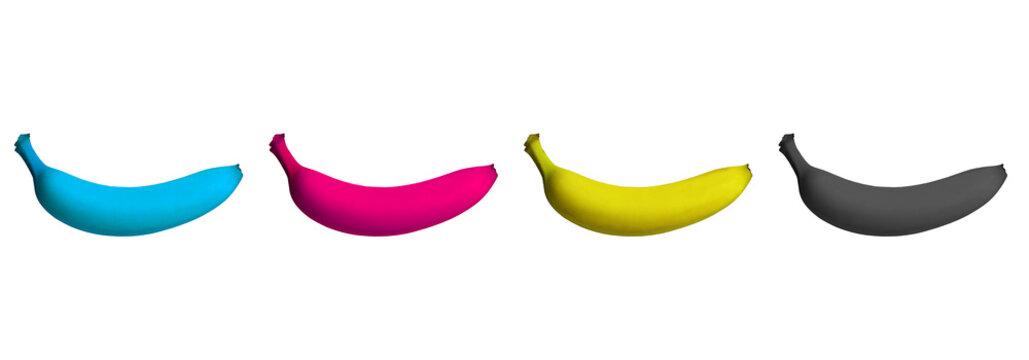 Bananen in CMYK