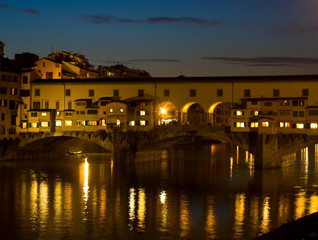 Ponte Vecchio By Night - Florence, Italy