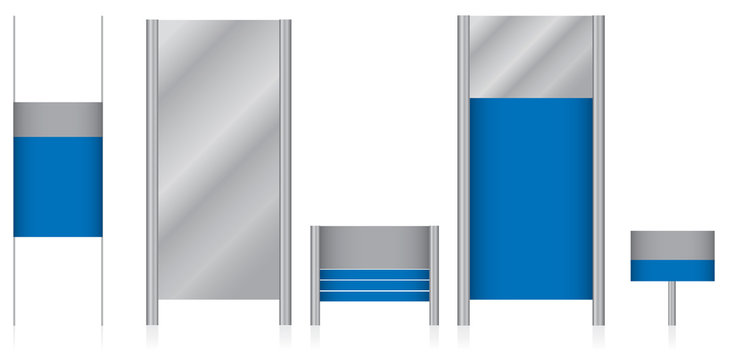 Set of blank signs