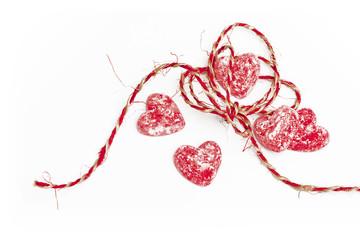Valentine Heart's on white background