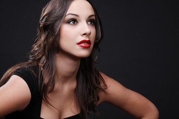 Beautiful brunette.