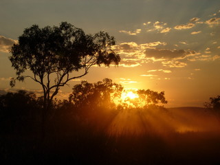 Sonnenuntergang Outback Australien