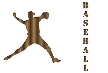 Carved Cardboard Baseball Background