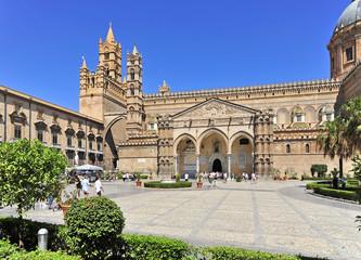 Aluminium Prints Palermo Italien, Sizilien, Palermo, Kathedrale