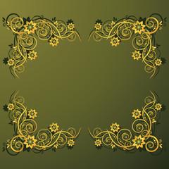 Floral plaque