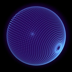 Holographic sphere blue dots