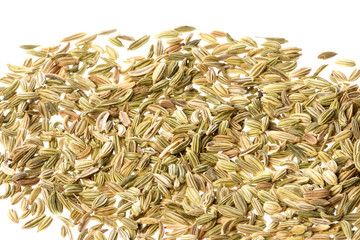 Fennel Seeds Macro Isolated