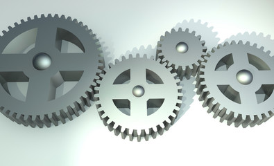 Cogs Meshed Together