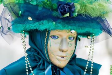 Venice carnival costume mask