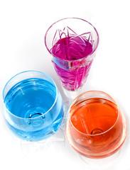 Three wineglass