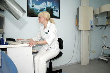 Woman radiologist
