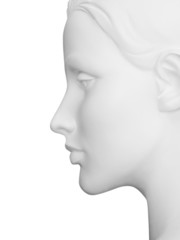 Female Mannequin Profile with clipping path