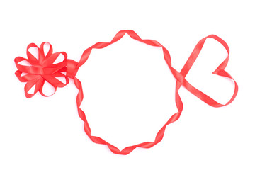 Silhouette of head from ribbon for Valentine