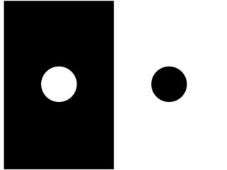 Trompe l'oeil : Le cercle noir semble plus petit que le blanc