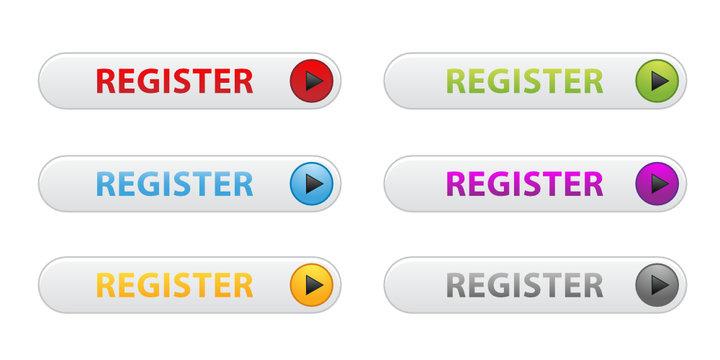 """""""Register"""" buttons (various colours)"""