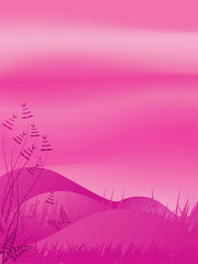 Spoed Foto op Canvas Roze abstract landscape