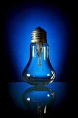 broken bulb, blue