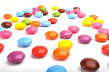 Fotorollo Süßigkeiten Schokolinsen Schokolade