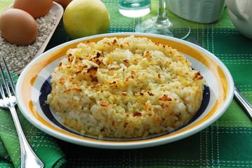 Torta di riso carrarina - Dolci toscani