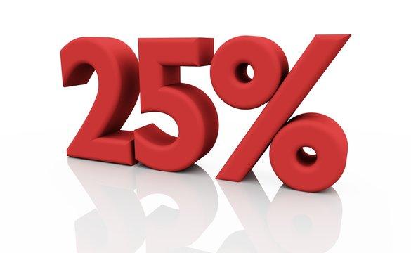 rabatt 25 %