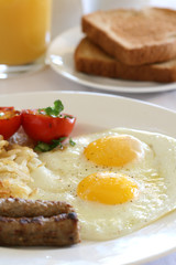 Breakfast - Eggs, Potatoes and Sausage
