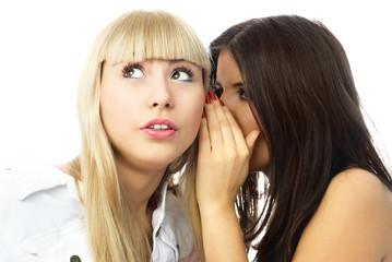 two young gossiping women