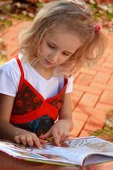 Serious reading girl