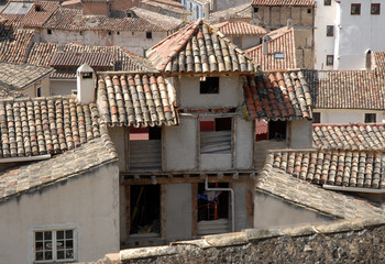 view of the roof houses in a Italy village