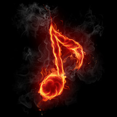 Wall Murals Flame Note