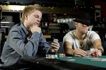 Two young poker players