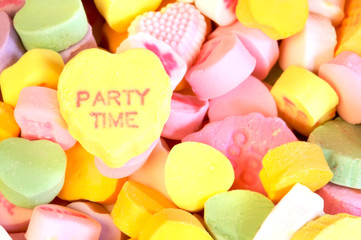 Valentines Day candy with message Party Time
