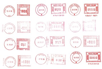 italian postage and rubber stamps background
