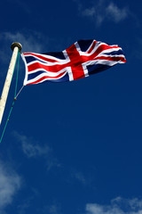 Union Flag on a windy day.
