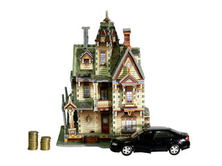 The house, car and money