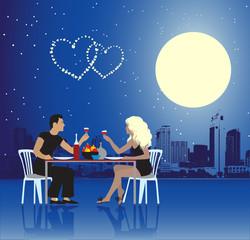 Valentine day, urban scene, couple