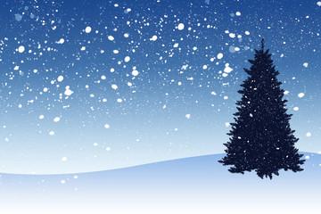 Snowy illustration