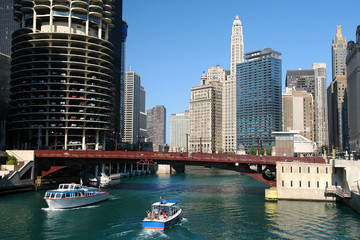 Fototapete - Chicago river