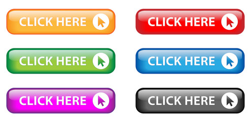 """""""Click Here"""" button poster (various colours)"""