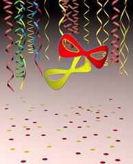 Party mit Konfetti und Luftschlangen