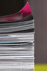 stack of magazines - macro