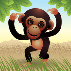Canvas Prints Zoo Baby Animal collection: Monkey. More animals in my gallery.