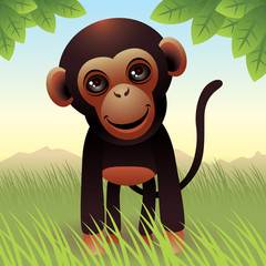 Fotobehang Zoo Baby Animal collection: Monkey. More animals in my gallery.