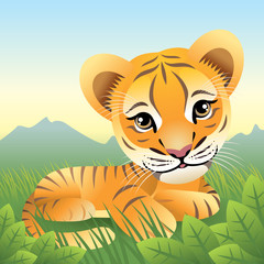 Poster de jardin Zoo Baby Animal collection: Tiger. More animals in my gallery.