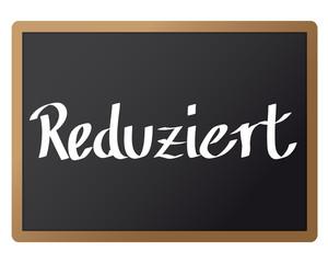 Hinweistafel - Reduziert