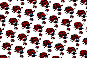Photo sur Plexiglas Coccinelles Ladybugs Pattern
