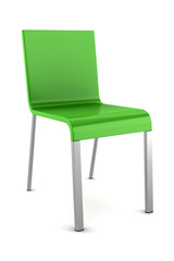 green chair isolated on white background
