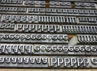 alte Bleibuchstaben für Buchdruck