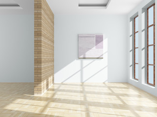 Empty room. 3D image