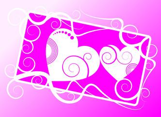 Rahmen mit Herz